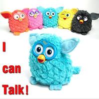 Wholesale interactive talk - Electric Pets Owl Elves Recording Talking Plush Toys Plush Stuffed Kids Interactive Toys 6 Colors OOA3146