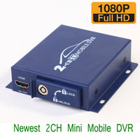 Video / audio video DVR 2 di DVR 2 di tempo 10pcs / lot HD1080P 2CH MINI di tempo reale del dvr con il mini veicolo DVR di telecomando ann