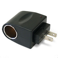 plugue do conversor de cigarro venda por atacado-110 V-240 V AC Plug Para 12 V DC Car Adapter Isqueiro do Conversor de Cigarro Do Carro