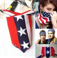 Wholesale Cotton Civil War - New 60pcs 55*55cm 100% cotton confederate hiphop bandanas civil war battle bandana headwrap outdoor flag kerchief Headbands 0383