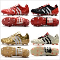 Wholesale Soccer Shoes Predator - cheap 2017 mens adidas Predator Mania Champagne FG soccer shoes football boots lows men soccer cleats turf futsal Free shipping