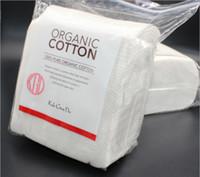 algodón plano japonés al por mayor-Algodón orgánico japonés 100% algodón puro Almohadillas de algodón gruesas y planas hechas del algodón más puro para bricolaje RDA Atomizador Ecig E682L