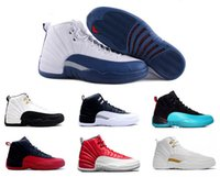 Wholesale Roses Night - 2018 men 12 XII mens basketball shoes gym red French Blue white Flu Game Taxi Playoffs Drake Night The Master sneakers eur 41-47
