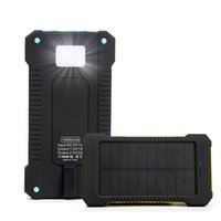 Wholesale Solar Power Bank Ipad - New Solar Charger Power Bank 10000mAh Universal Power Banks battery pack For iPhone6 iPad Samsung cellphones chargers