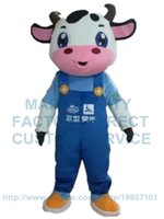 Wholesale Cow Adult Costume Character - milk cow mascot costume cattle custom cartoon character cosply adult size carnival costume 3093