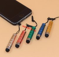 Wholesale Pda Pen Phone Stylus - 100pcs lot Cell Phone Stylus Pens Universal Capacitive Screen Touch Pen Stylus for Smart Phones Tablets with Dust cap Plugs For PDA laptop