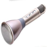 mini ktv toptan satış-2016Newest K068 Mic ile Kablosuz bluetooth Mikrofon Hoparlör Kondenser Mini Karaoke Oyuncu KTV Şarkı Kayıt için samsung Iphone DHL ÜCRETSIZ
