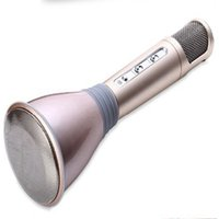 Wholesale free karaoke player - 2016Newest K068 Wireless bluetooth Microphone with Mic Speaker Condenser Mini Karaoke Player KTV Singing Record for samsung Iphone DHL FREE
