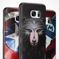 14 padrões para Samsung S7 S7 Edge Iphone 6 6plus Silicone Soft 3D Stereo Relief Pintura Telefone Cases Back Covers Protector Caso