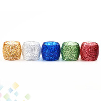 Wholesale electronic cigarette cap online - Shine Epoxy Resin Tube Replacement Caps Big Capacity for TFV12 Atomizer Electronic Cigarette DHL Free