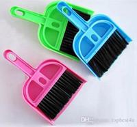 Wholesale Mini Dustpan Brush - Mini Desktop Microwave Sweep Clean The Keyboard Brush Cleaning Brush Small Broom Dustpan Set 9*11cm Free Shipping