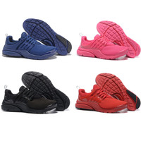 Wholesale Womens Shoe Denim Blue - 2016 New Air Presto Running Shoes Womens All Black Red Blue Orange Pink Sports Sneakers