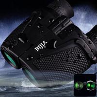 Wholesale Hunting Vision - BIJIA Porro BK4 Prism Waterproof 12 x25HD Night Vision Binoculars 83m 1000m Ultra-clear Telescopes Hunting Binoculars Telescopes+B