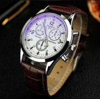 lista de marcas de relógios venda por atacado-Listagem do novo Yazole Men relógios de luxo da marca relógios de quartzo relógio de moda cintos de couro assistir esportes baratos relógio de pulso relogio masculino