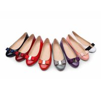 Wholesale Pointed Heels Womens Shoes - womens brand wholesales summer women patent leather sjoes Flat cow muscle outsole casual confortable single shoe women genuine leather shoes