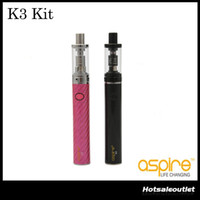 Wholesale Quick Single - Aspire K3 Quick Start Kit 2ml K3 Tank 1.8ohm Aspire Nautilus BVC Coils With 800mah K3 Battery 100% Original