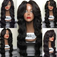 Wholesale Custom Indian Lace Wig - 9A Grade 150% Density Virgin Brazilian Human Hair wigs Full Lace Wig Custom hairline full lace wig glueless lace front wig