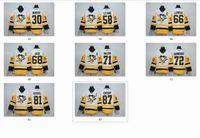 Wholesale size 58 jerseys for sale - Group buy New Penguins Jersey Crosby Hockey Jerseys New White Color Size Stitched Mix Order All Jerseys