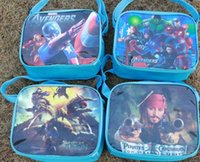 Wholesale Spiderman Party Bag Wholesalers - 2016 kid favorite cute spiderman The Avengers cars bag lunch bag case box bag kid party gift