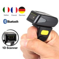 Al por mayor- ¡Envío gratis! Portable Wearable Ring Barcode Scanner 1D Reader Mini Bluetooth Scanner 360mA batería