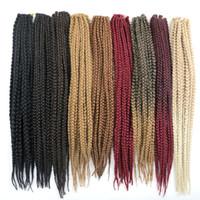 boxen für haarverlängerungen großhandel-Kanekalon Synthetic Box Flechten Haar 3X Crochet Zöpfe twist 24Zoll 110G synthetische Haarverlängerungen mehr Farben