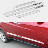 Wholesale Chrome Strips - For Honda 2015 car accessories ABS chrome side door body trim for Honda VEZEL 2014-2016 chrome molding body strips