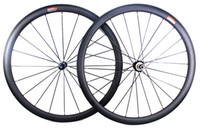 Wholesale Carbon Cycling Wheelset Clincher - 38mm carbon bicycle wheels powerway r36 straight pull hub clincher tubular road cycling bike wheelset basalt braking surface