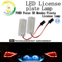 Wholesale Led Light Ford Kuga - 2X LED License Plate Light New for Ford Focus 5D Mondeo Fiesta Kuga Xenon White 6000k Canbus No Error E8
