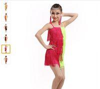 Wholesale Tassel Dance Dresses For Kids - Hot Sale Latin Dance Dress For Girls Children Ballet Tutu Tassel Kids Dance Dresses Modern-Dance-Costumes-For-Kids Dancewear Dress For Kids