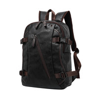 Wholesale Two Big Fashion - 2017 Male Functional bags Fashion Men backpack PU Leather backpack big capacity Men bags FB170702