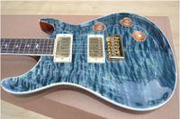 Wholesale Eagle Guitar Right - Custom Reed Smith Qulit Flame Maple Top Vintage Blue Electric Guitar Eagle Headstock Logo MOP Birds Inlay Tremolo Bridge Gold Hardware