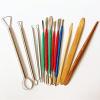 Wholesale Polymer Clay Carving Tools - 13pcs DIY Professional Clay Sculpting Sculpt Smoothing Wax Carving Pottery Ceramic Tools Polymer Shapers Modeling Carved Knife