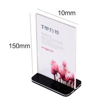 Wholesale Display For Supermarket - Universal fashion style A6 Acrylic Desktop Card Display Sign Holder Menu Price Tag Display Stand For Store&Hotel&Supermarket