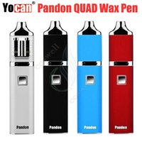 Vente en gros Yocan Pandon Kit QUAD Bobines double Quartz Coil Evolve DQC Wax Vape Pen vaporisateurs Tension vapeur réglable Ecigs DHL gratuit