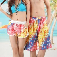 Wholesale Beach Surf Pants Women - Wholesale-Men Women Lovers Various Beach Casual Pants Surf Swim Shorts Rope Tie Casual Pants New