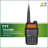 Großhandels-Neuer TH-UV8R Walkie Talkie UHF VHF Dual-Band-5W 256 CH DTMF 1750Hz Ton Tragbare Ham Two-Way-Radio Communicator Schwarz