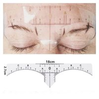 Wholesale Permanent Eyes - 10 pcs disposable Semi Permanent Eyebrow Ruler Makeup Eye Brow Measure Tool Eyebrow Guide Ruler Microblading