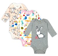 Wholesale jumpsuits new long sleeved triangle climb clothes cotton children climb jumpsuit baby clothes