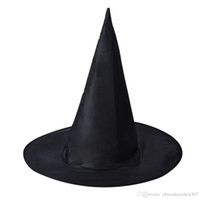 Wholesale Coolest Party Accessories - 20pc 2016 Cool Adult Women Black Witch Hat For Halloween Costume Accessory Hot Sale Costume Party Props Free Shipping