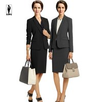 Wholesale Elegant Suits Fashion Set - UR 10 Fashion Spring Elegant Handmade Designer Professional Bussiness Suits Female Skirt Suits Office Uniform Lady Blazer Set Custom Made