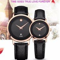 Wholesale Dom Watches - DOM Men Watch New Women Dress Couple Lovers Watches Men Luxury Brand Fashion& Casual Lover Leather strap Relogio Feminino