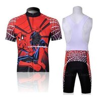 Wholesale Cycling Jersey Spiderman - 2015 Professional new fashion design outdoor spiderman cycling jersey cycling jersey bib shorts and jersey set good quality