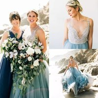 Wholesale Sheer Beach Gowns - Illusion Wedding Dress For Brides Beach Beads Vestido De Novia Marriage Gown Backless Covered Buttons Sheer Neck Wedding Gown