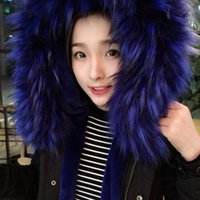 Wholesale womens fur lined coats - Wholesale-C23 winter Womens Faux Fur Lining Parka Jacket Woman black Army Raccoon Fur Collar Hooded Warm Parkas multi color Coat Tops