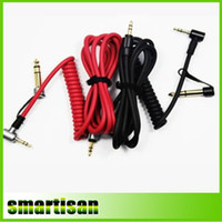 Wholesale Mini Usb Rca Cables - Replacement Headphone Pro Stereo Audio Cable for Headphones with 6.5mm male to 3.5mm male adapter Black Red