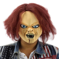 Wholesale Chucky Latex Mask - Free Shipping Horror Latex Mask for Child Play Chucky Action Figures Masquerade Halloween Party Bar Supply