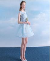 vestidos de damas de honor en línea al por mayor-Vestidos de dama de Sweety simples vestidos formales vestidos precioso partido de los vestidos de fiesta vestidos de bola corto Online 2016