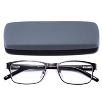Wholesale Men Occasion - Reading Glasses Readers Metal Deluxe Rectangular gun Frame Business occasion Men