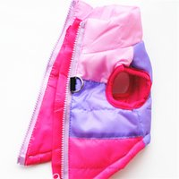 Wholesale Winter Wedding Coat Hood - 4 Colors Winter Pet Dog Jacket Coat Thickening Warm Puppy Dog Clothes With Hood Size New