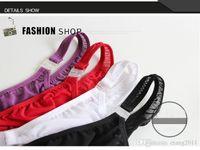 erkekler boksör dize toptan satış-Seksi Jockstrap Erkekler Iç Çamaşırı 2016 Marka Boksörler erkek Yumuşak Külot Nefes Boxer Spandex Erkek Thongs G-dizeleri Şort Bdsm